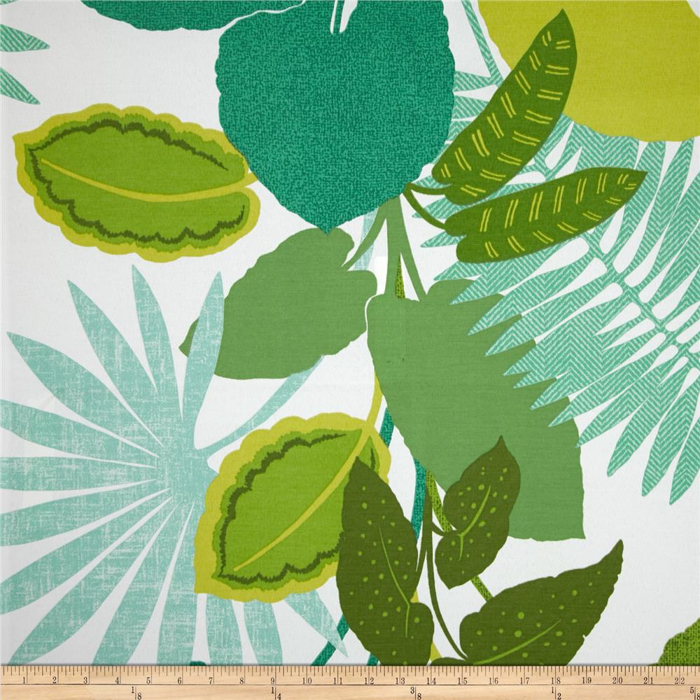 Discount outdoor fabric by the yard - P Kaufmann Indoor Outdoor Costa Rica Jungle Green Discount