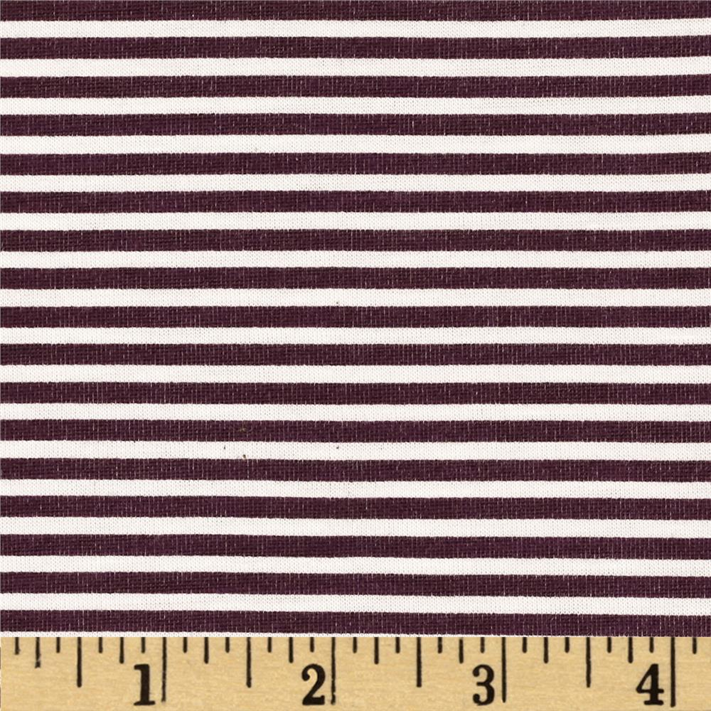 Jersey Knit Stripe Purple/White