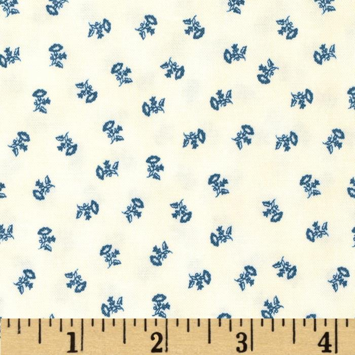 Penny Rose 19th Century Shirtings Floral Blue