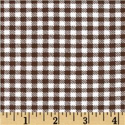 Aunt Polly's Flannel Gingham Brown/White