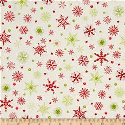 Purely Christmas Red & Green Snowflakes