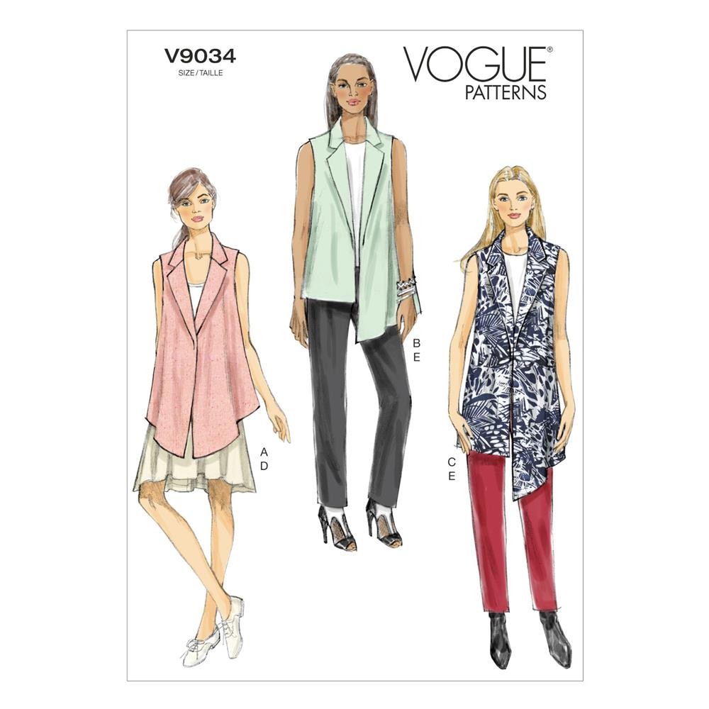 Vogue Misses' Vest, Skirt and Pants Pattern V9034