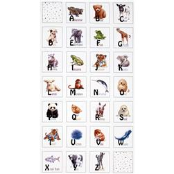 Animal Friends 24 In. Panel White