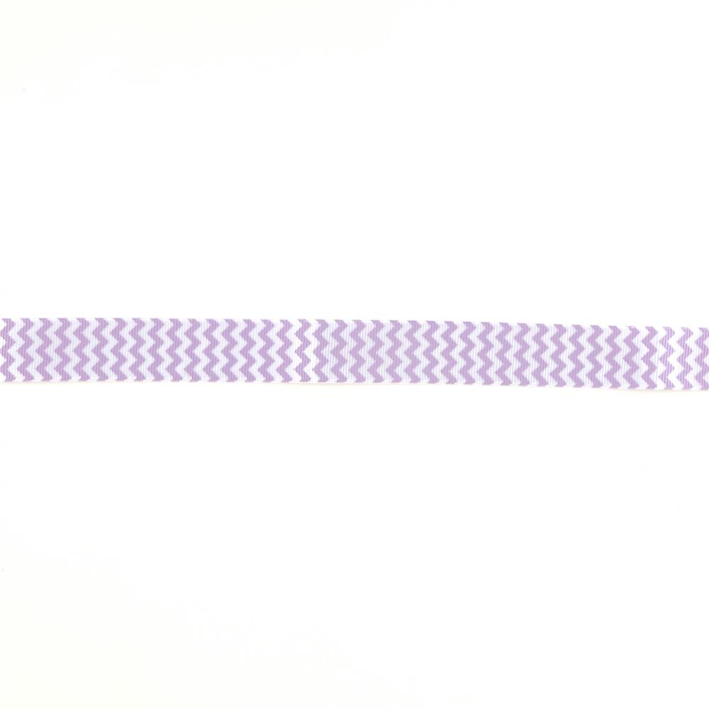 "Riley Blake 7/8"" Grosgrain Ribbon Chevron Lavender"