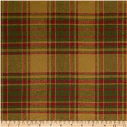 Primo Plaids Christmas Flannel Large Plaid Olive