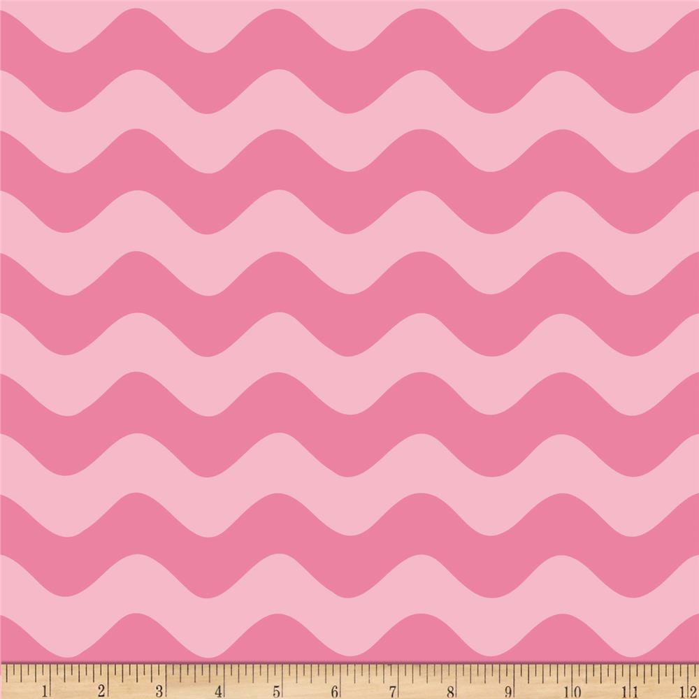 Riley Blake Wave Tonal Hot Pink