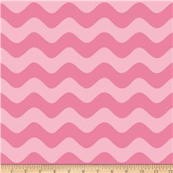 Riley Blake Wave Tonal Hot Pink Fabric