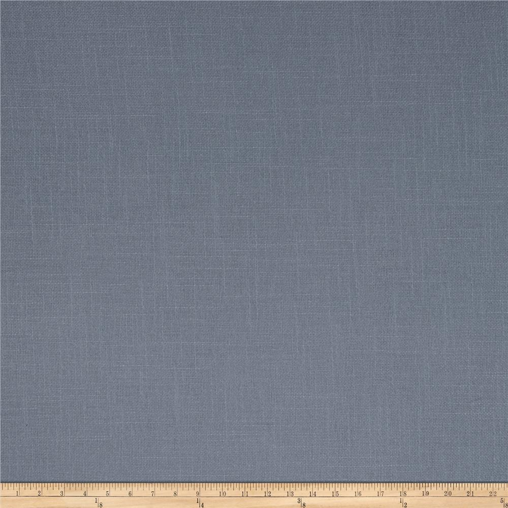 French General Cassis Basketweave Linen Bleu