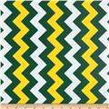 Riley Blake Laminate Medium Chevron Green/Gold