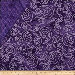 Indian Batik Double Sided Quilted Large Swirl Lavender/Purple