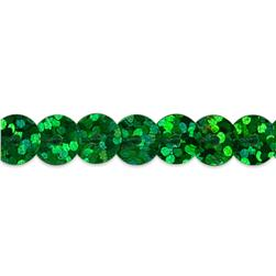 6mm Slung String Sequin Trim Roll Green