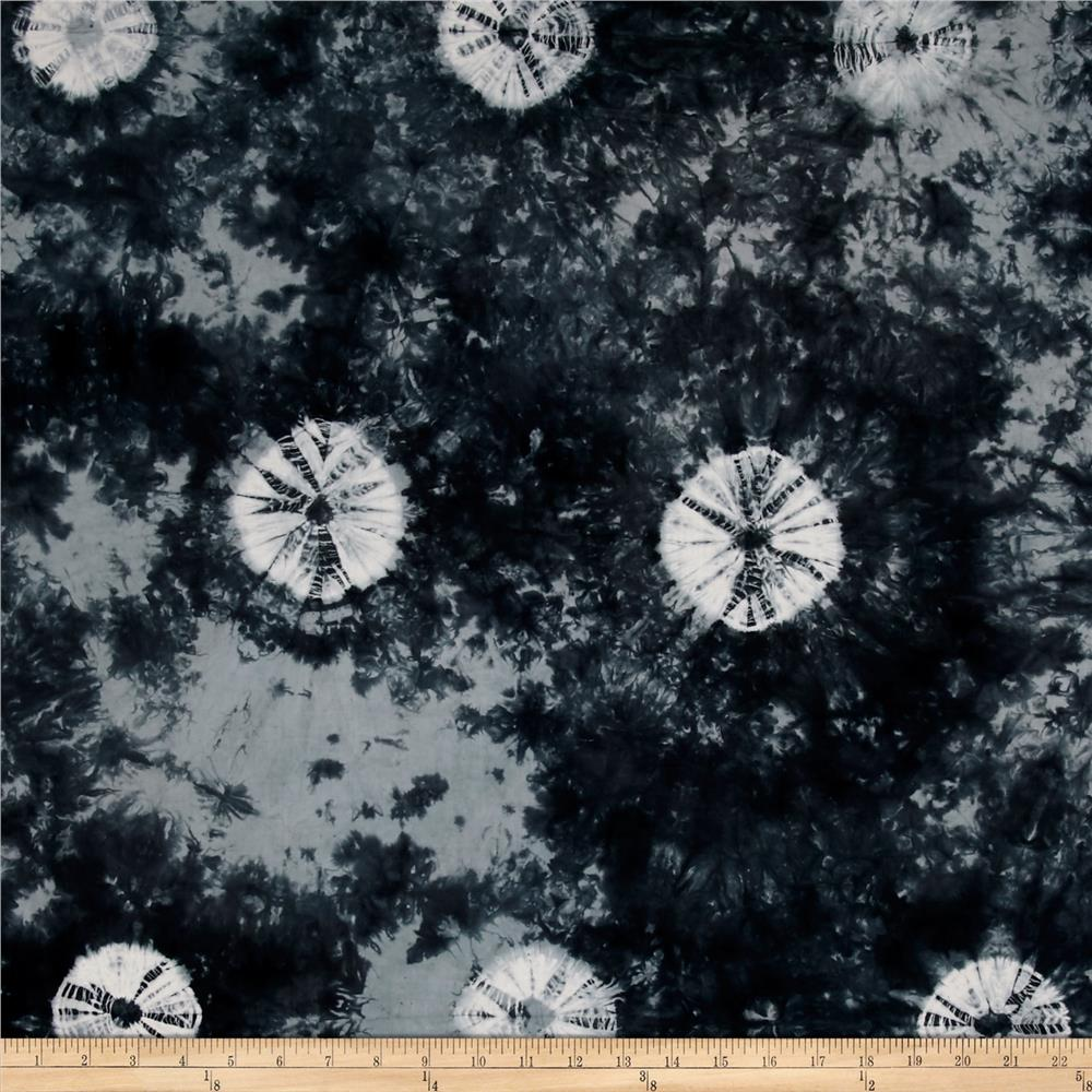 Indian Batik Wind Cave Tie Dye Black/ White