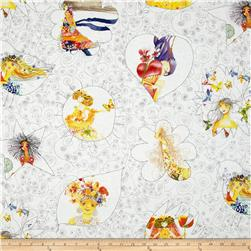 Bloom Girls White Fabric