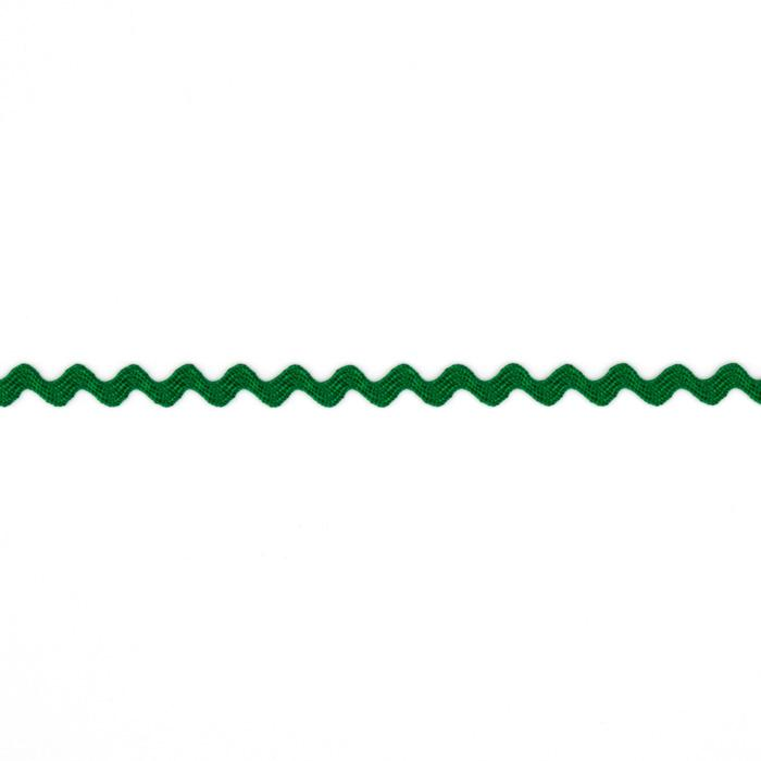 "1/8"" Ric Rac Rayon Mini Trim Green"