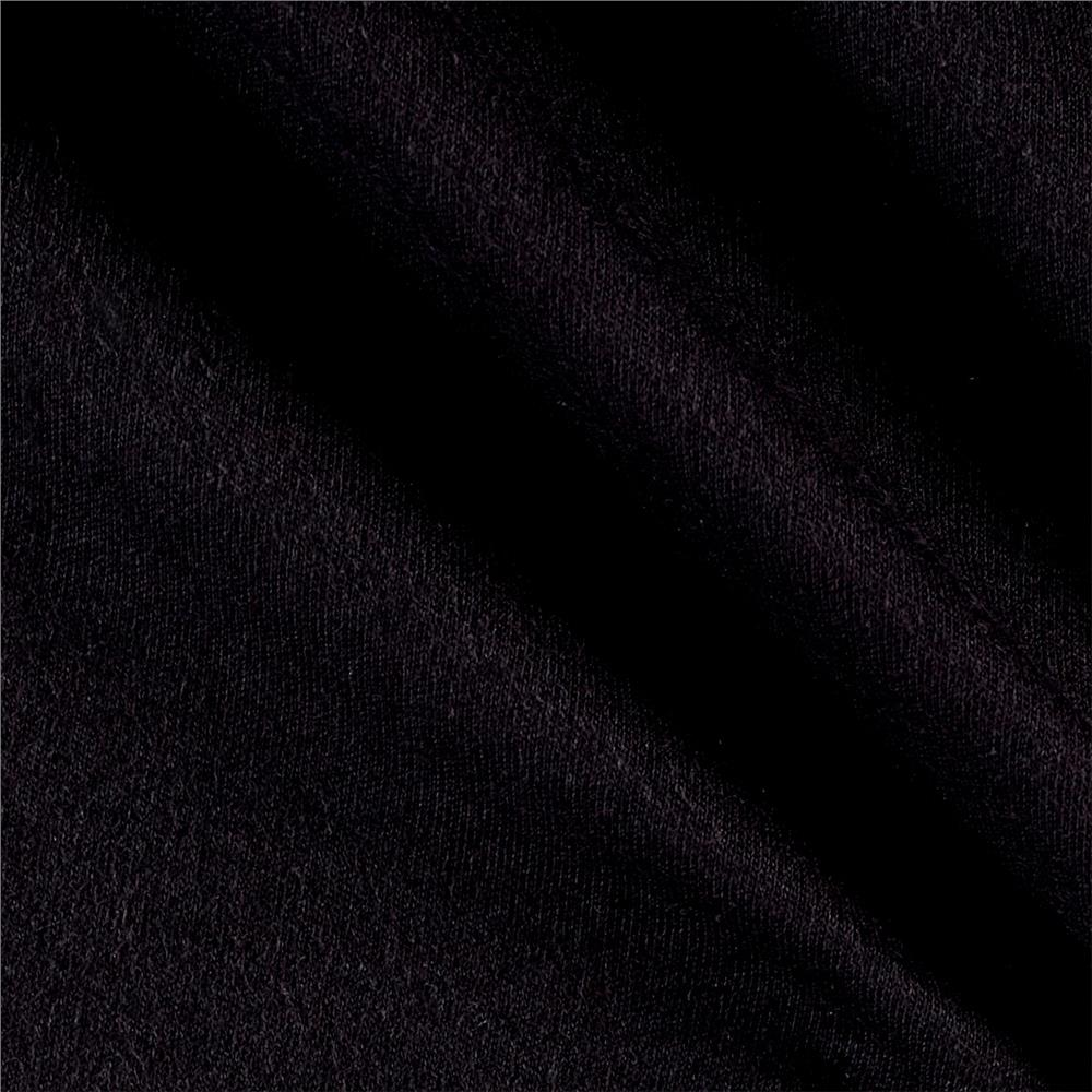 Cotton Interlock Knit Black