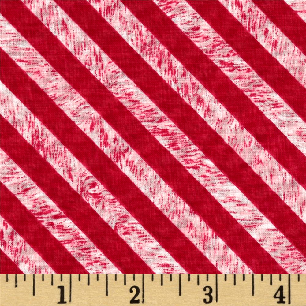 Chalkboard Christmas Stripe Red
