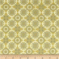 Seascape Metallic Medallions Sand/Gold Fabric