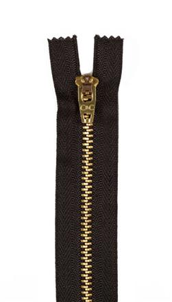 "Brass Jeans Zipper 7"" Black"