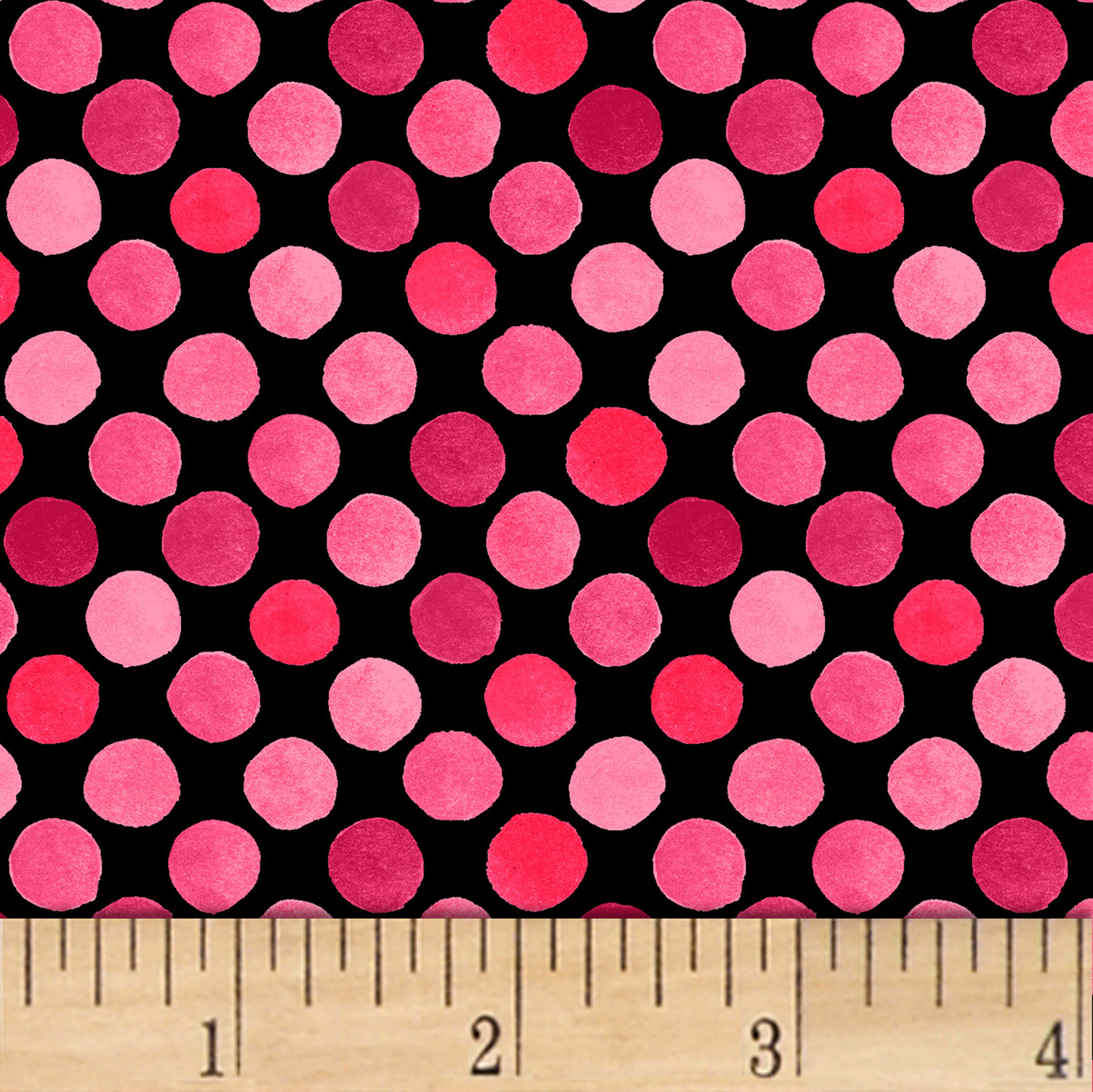 INOpets.com Anything for Pets Parents & Their Pets Lori's Art Garden Garden Dots Pink/Black Fabric