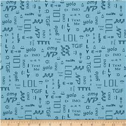 A Shout A Whisper A Text Text Time Print Blue