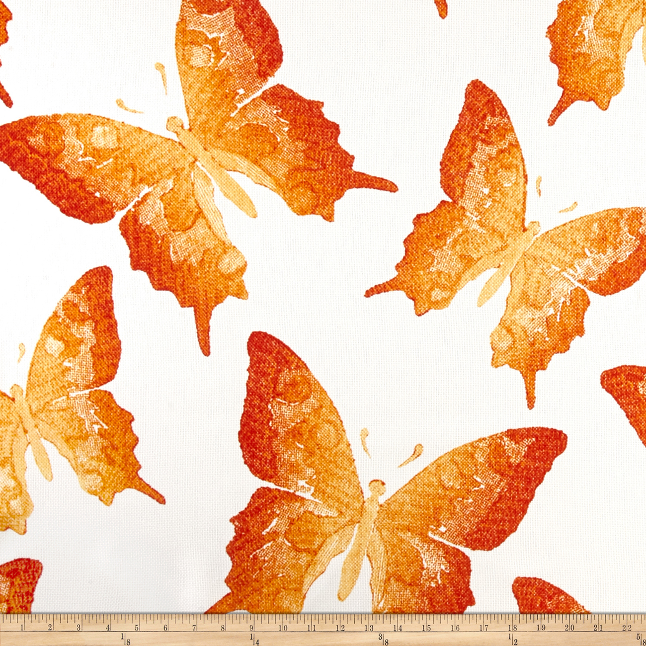 P Kaufmann Indoor/Outdoor Swallowtail Coral Sunshine Fabric by P Kaufman in USA
