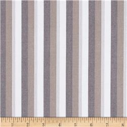 Kaufman Classic Threads Large Stripe Pepper Fabric