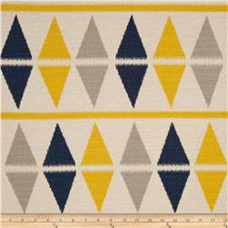Premier Prints Ikat Argyle Nina Navy/Birch
