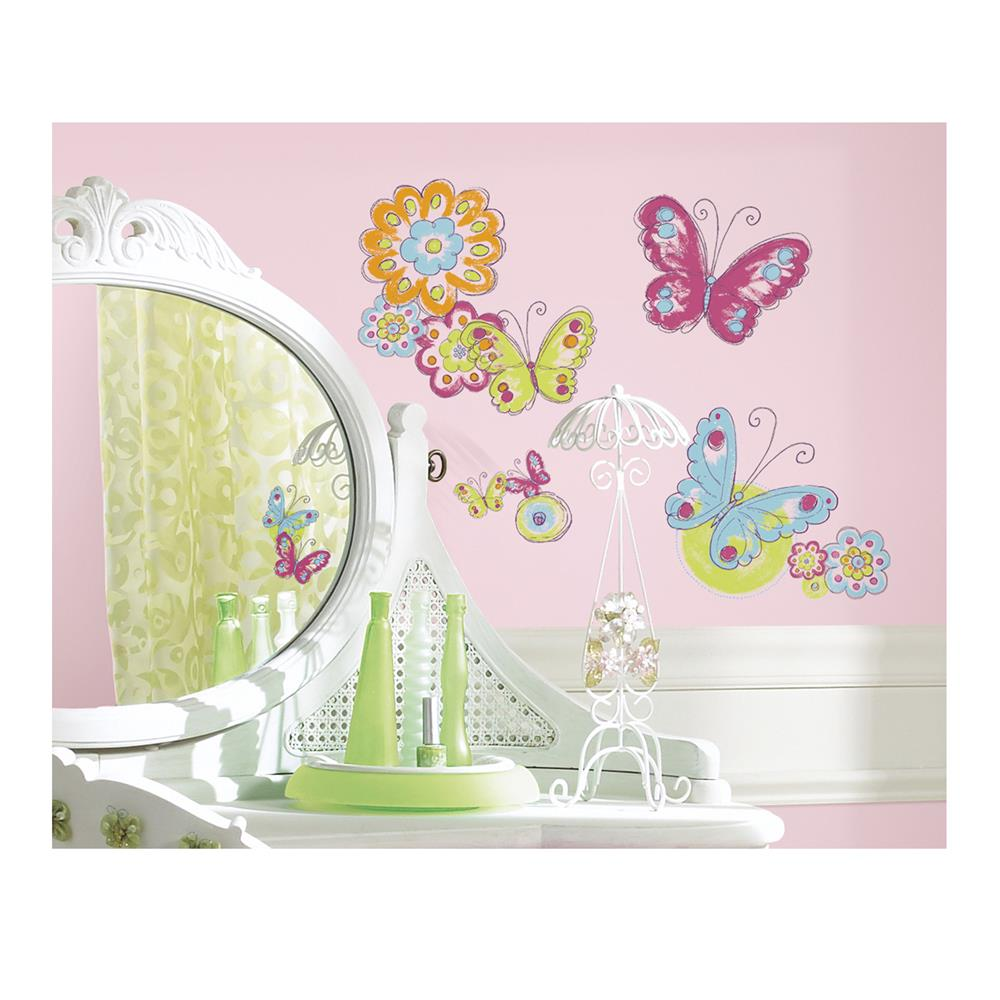 Brush Work Butterfly Wall Decal