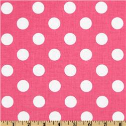 Riley Blake Dots Medium Hot Pink Fabric