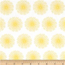Moonflower Spiral Floral White/Yellow