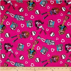 Monster High Flannel Best Girlfriends Moster Pink