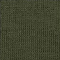 Cotton Thermal Knit Army Green