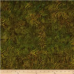 Batavian Batiks String of Dots Olive Drab