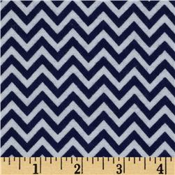 Dreamland Flannel Chic Chevron Navy Skies
