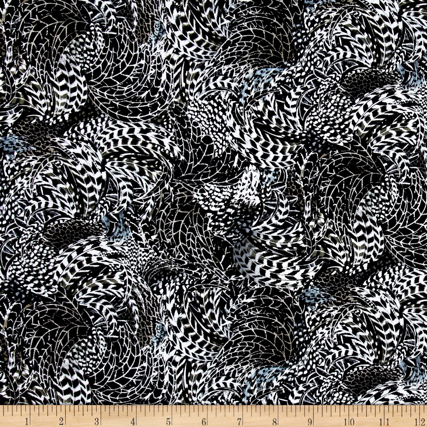 Rise & Shine Feathers White Fabric by Quilting Treasures in USA