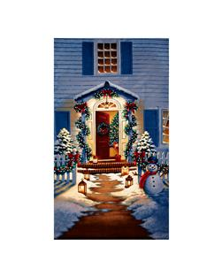 Good Tidings Holiday Homecoming 24 In. Panel Blue