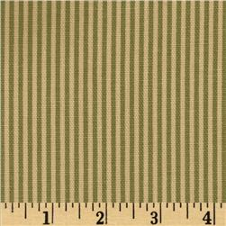 Magnolia Home Fashions Ticking Stripe Forest Green