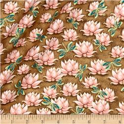 Yuna Metallic Waterlilies Dark Tan