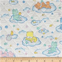 Quilted Vinyl Clouds White/Pastel