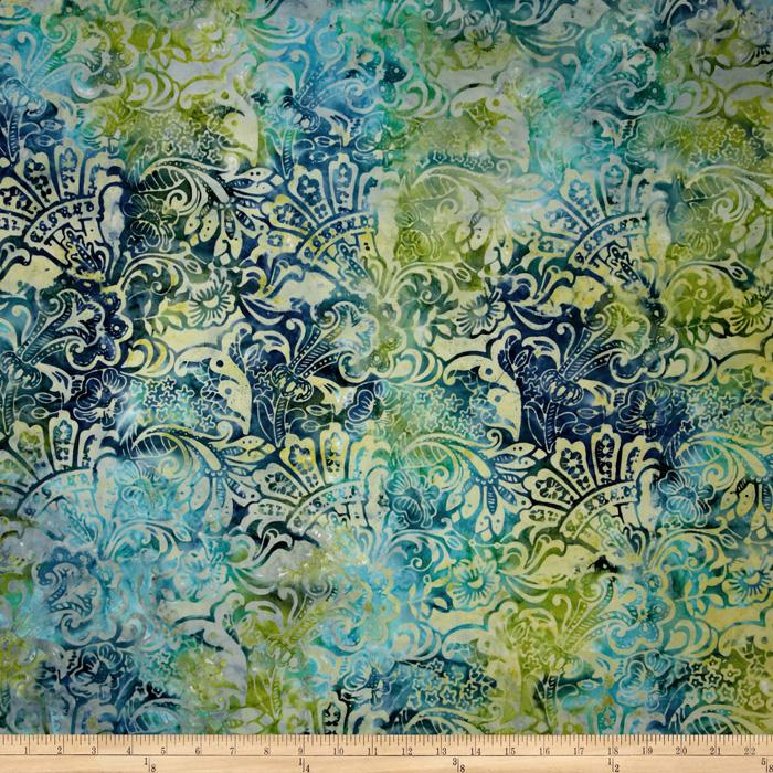 Tonga Batik Lemon Poppy Flourish Mermaid
