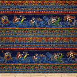 Laurel Burch Sea Spirits Metallic Mermaids Multi