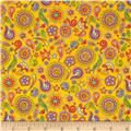 Fabric Fiesta Paisley Gold