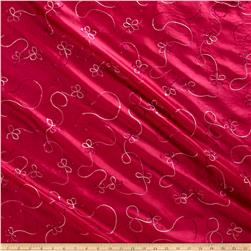Embroidered Sequin Taffeta Magenta