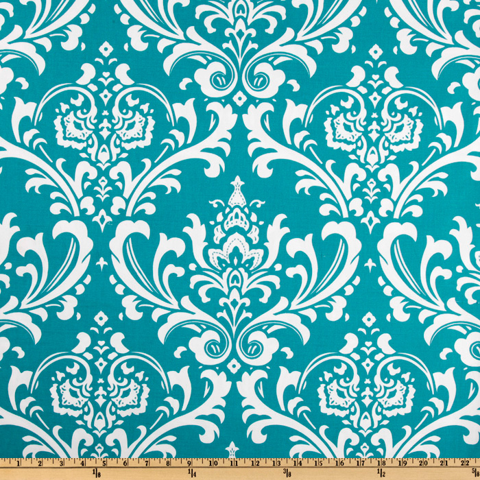 Premier Prints Ozborne True Turquoise Fabric