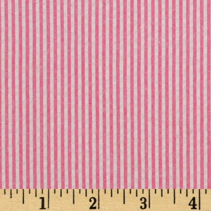 Classic Seersucker Stripes Fuchsia/White