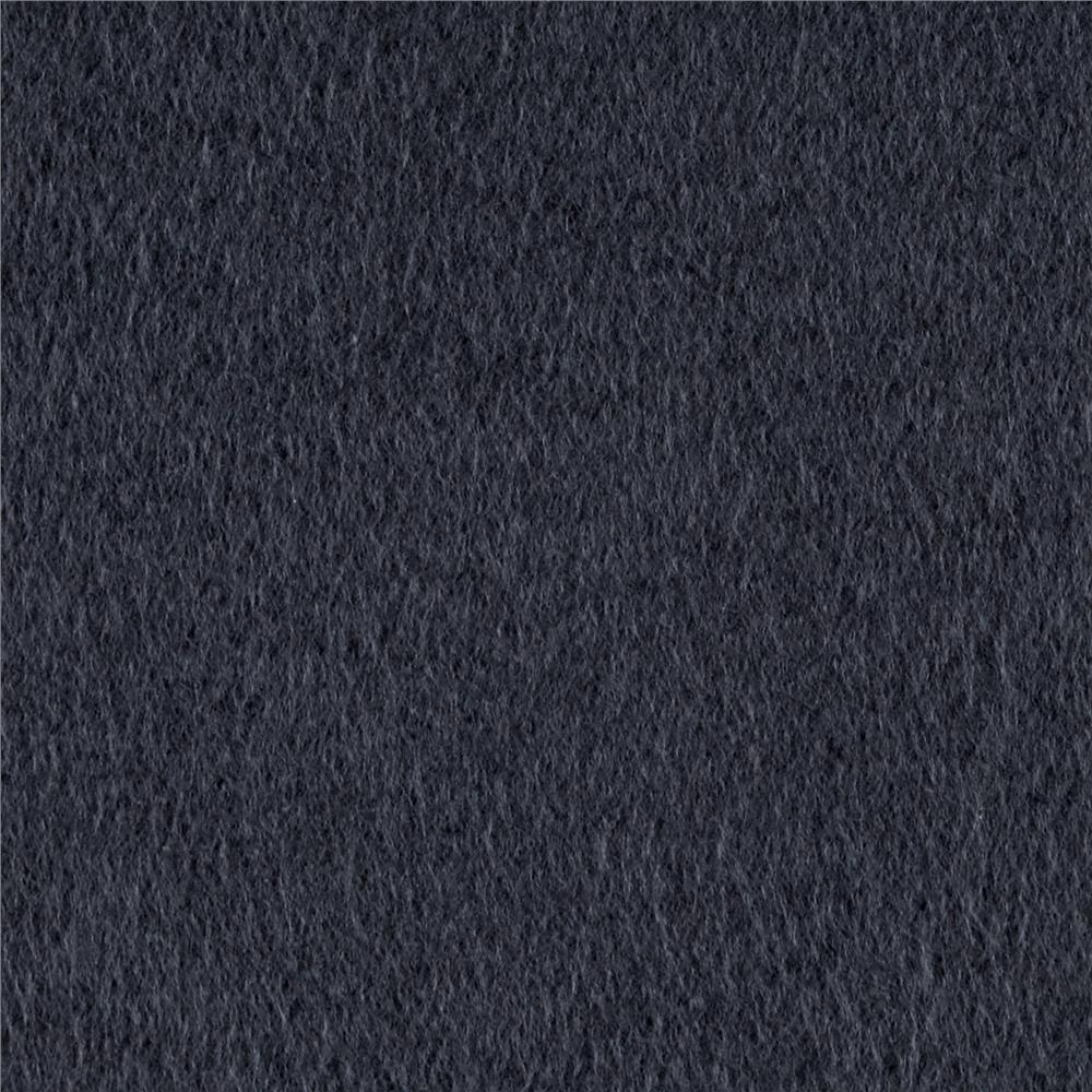 Cotton Fleece Solid Charcoal