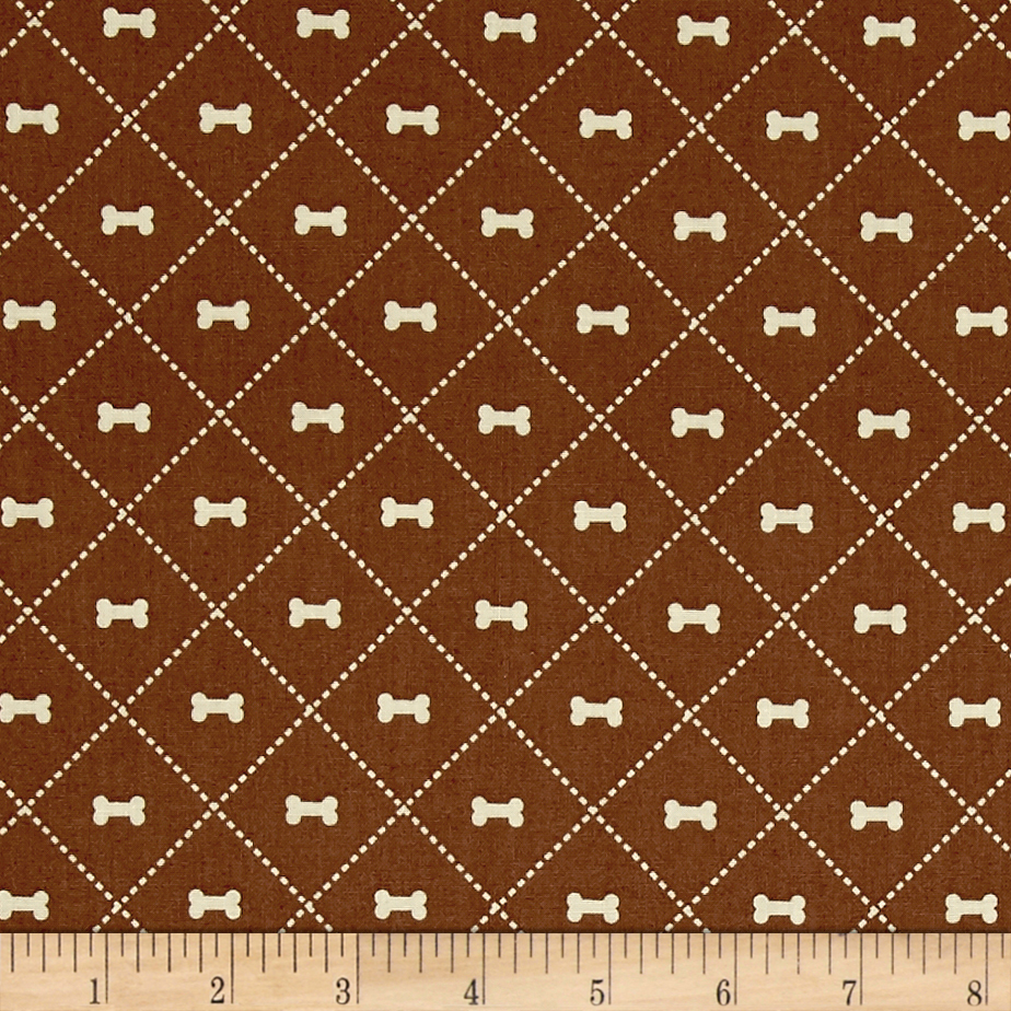 Riley Blake Rover Bone Brown Fabric