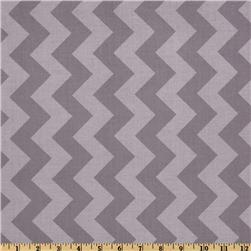 Riley Blake Chevron Medium Tonal Grey Fabric