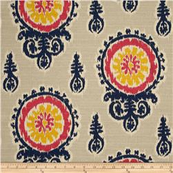 Premier Prints Michelle Nina Navy/Pink/Birch Fabric