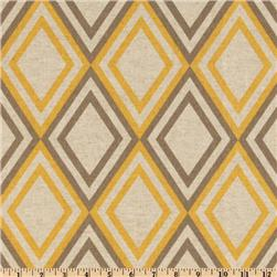 Premier Prints Annie Blend Yellow/Oatmeal Fabric